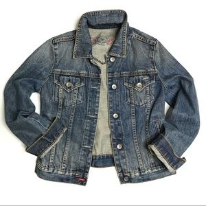 GAP Distressed Trucker Style Jean Jacket